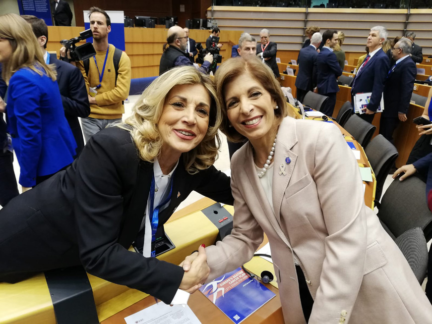 IncontraDonna al Parlamento Europeo Bruxelles per il lancio del Cancer Plan europeo in occasione del World Cancer Day (4 febbraio 2020)