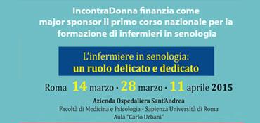 IncontraDonna onlus finanzia come major sponsor il primo corso nazionale per la formazione di infermieri in senologia